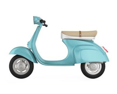 Obraz Vintage Retro Scooter izolované