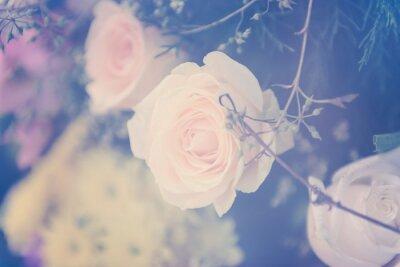 Obraz Vintage růže květ kytice změkčením pozadí