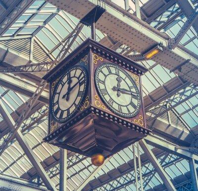 Obraz Vintage Station Clock
