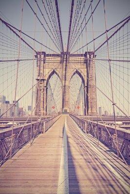 Obraz Vintage toned photo of Brooklyn Bridge, NYC, USA.