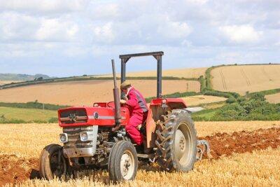 Obraz Vintage Traktor pluh
