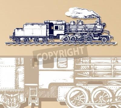Obraz vintage vlak.