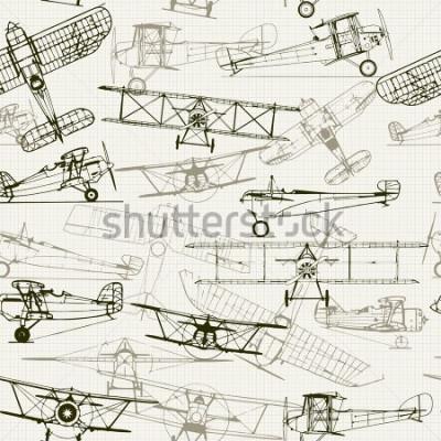 Obraz Vintage vyhovové pozadí. Stylizované složení letounu. texturu grafického papíru vhodné vypnout. Můžete použít pro tapety, výplně vzorů, pozadí webových stránek, povrchové textury.