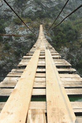 Obraz Visutý most v kaňonu