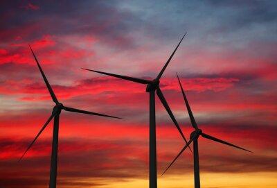 Obraz Vítr generátor turbíny v nebi