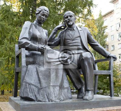 Vladimir Lenin a Nadejda Krupská.