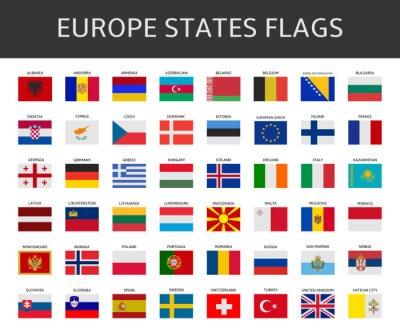 Obraz Vlajka Evropské Unie uvádí, vektorový soubor