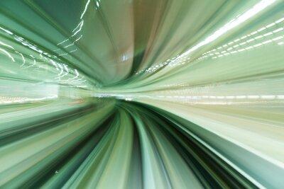 Obraz Vlak pohybující se rychle v tunelu