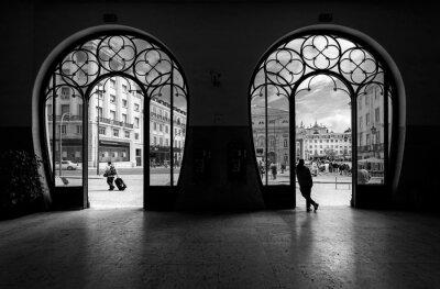 Obraz Vlaková stanice Rossio. Staré město Lisabonu. Portugalsko.