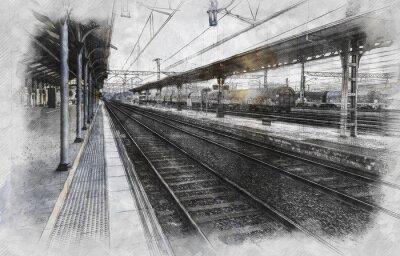 Obraz Vlakové nádraží