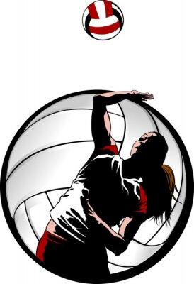 Obraz Vnitřní Volejbal Closeup