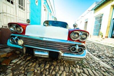 Obraz voiture dans petite rue de Trinidad