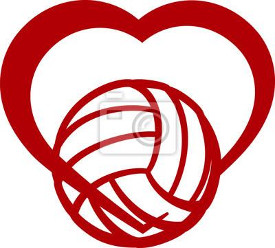 Obraz Volejbal Heart