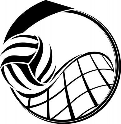 Obraz Volejbal Medal design