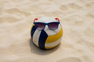 Obraz volejbal na Letní pláž s lupa