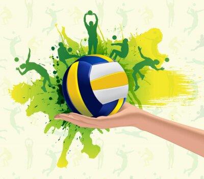 Obraz Volejbal sportovní design pozadí