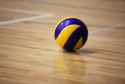 Obraz Volejbalové míče na podlahu