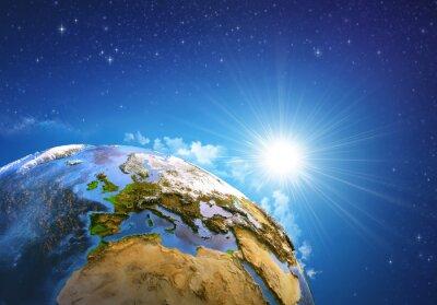 Obraz Východ slunce nad Zemí