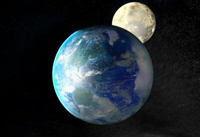 Obraz Východ slunce nad Zemi z vesmíru