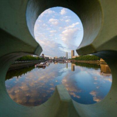 Obraz výhledem na řeku Temži v Londýně