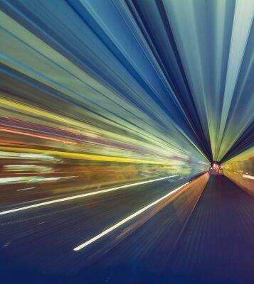 Obraz Vysokorychlostní technologie koncepce přes Tokiu jednokolejka