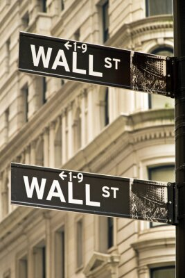 Obraz Wall Street známky ve městě New York