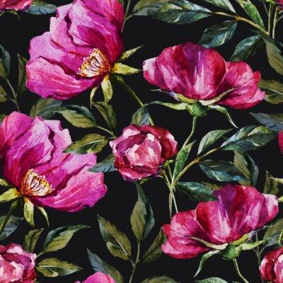 Obraz Watercolor květinovým vzorem