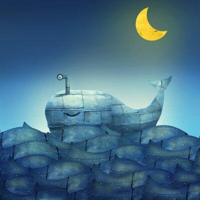 Obraz Whale v modré