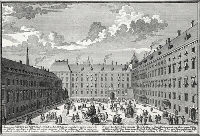 Obraz Wien, Innerer Burghof um 1725, Kupferstichvorlage