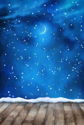 Obraz Winter Night obraz pozadí