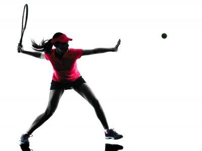 Obraz woman tennis player sadness silhouette