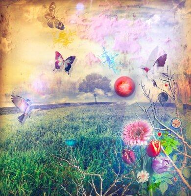 Obraz Wonderland s barevnými květy