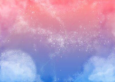 Obraz ふ わ ふ わ ピ ン ク の 空 Fluffy Pink Sky