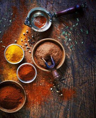 Obraz Barevné sušené mleté koření