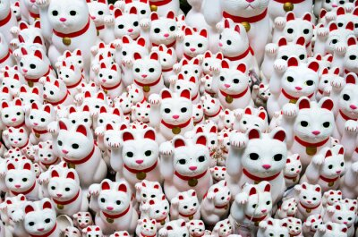 Obraz Goutokuji-chrám kyne kočka, Tokio, Japonsko (豪 徳 寺 の 招 き 猫)