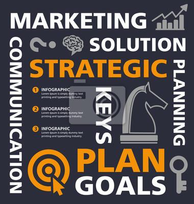 Obraz info grafický design, ilustrace, šablona, strategické plánování