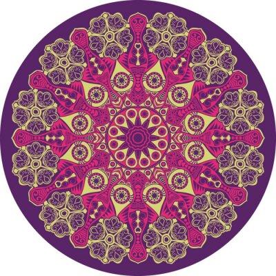 Obraz okrasné kolo krajky vzor, kruh pozadí s mnoha detai