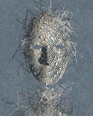 Obraz Surreal abstraktní maska s mnoha dráty