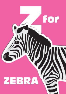Obraz Z pro Zebra, zvířecí abeceda pro děti