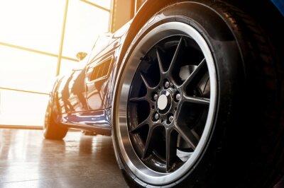 Obraz Zadní strana generické modré sportovní auto