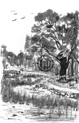 zahrada skica
