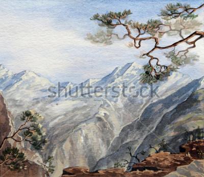 Obraz Zákazníci náčrtek s horami