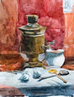 Obraz Zátiší, akvarel kreslení