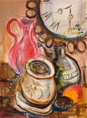 Obraz Zátiší s červeným džbánem