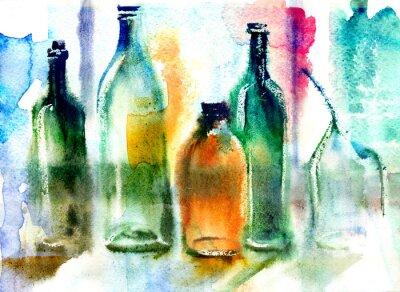 Obraz Zátiší z různých lahví