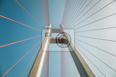 Obraz zavěšený most detailní