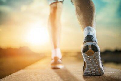 Obraz Zavřete záběr boty Runner