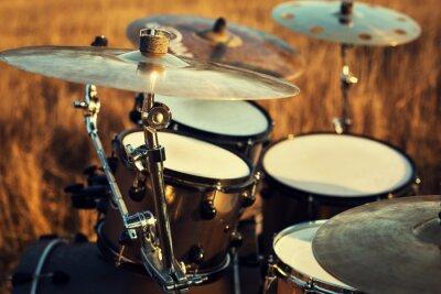Obraz Zblízka na tenké set crash bicí