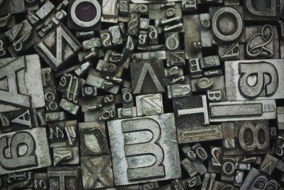 Obraz Zblízka sázet písmena