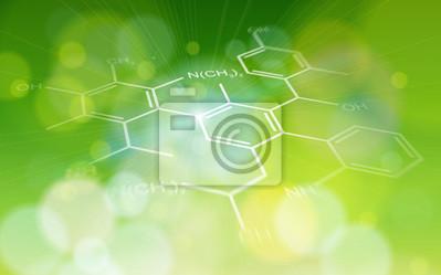 zelená ekologie pozadí: chemické vzorce